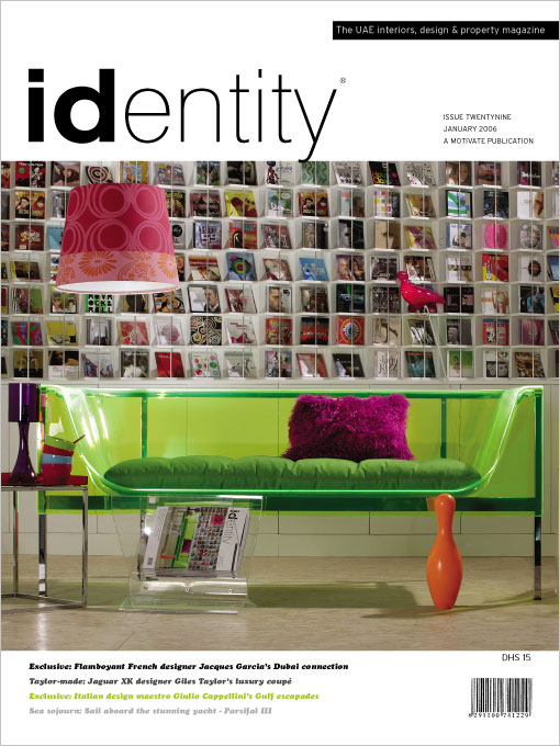 Identity magazine cover graphic design