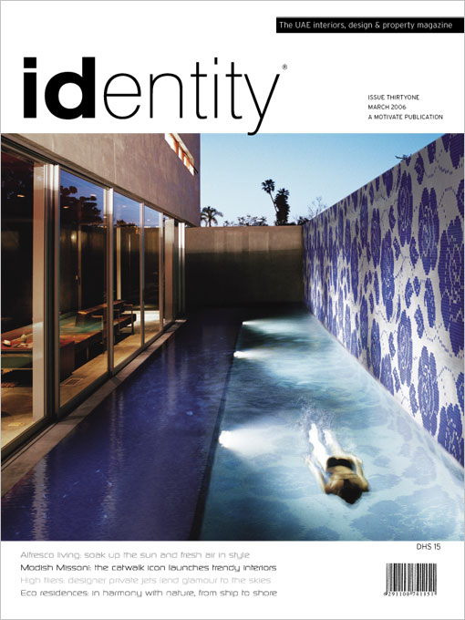 Identity magazine cover design