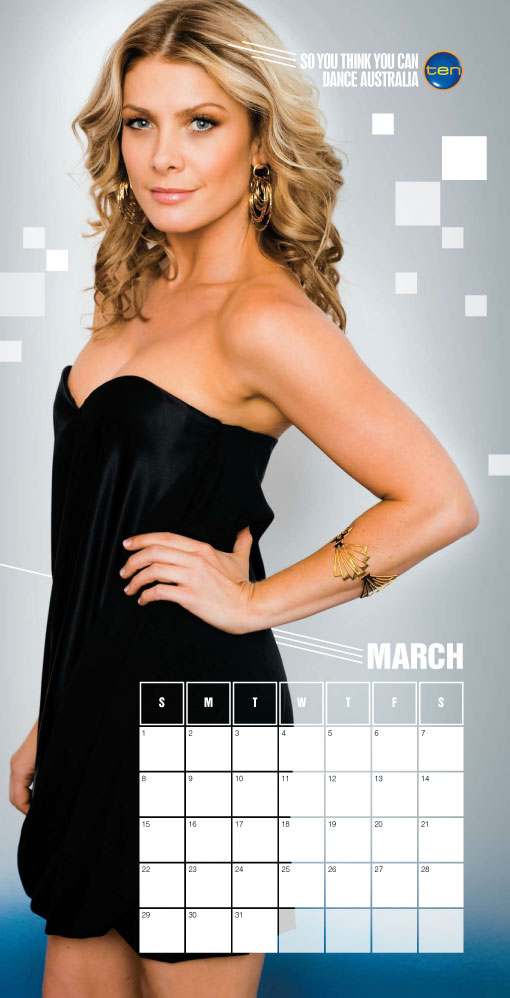 Network Ten Calendar graphic design