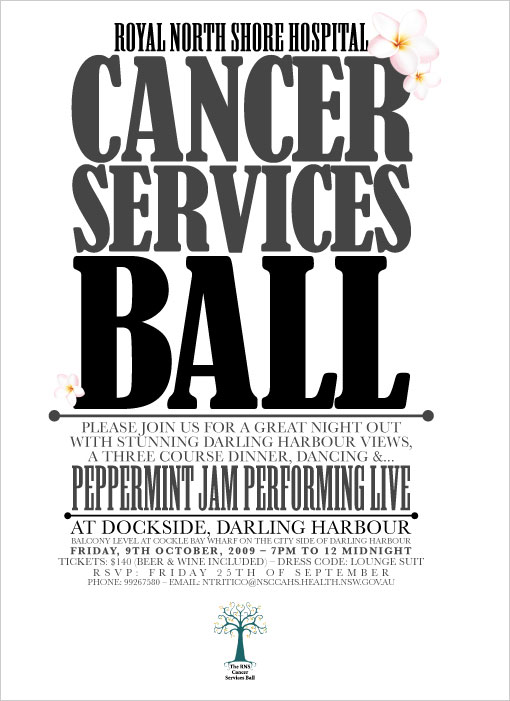 Cancer Services Ball Poster design 2009