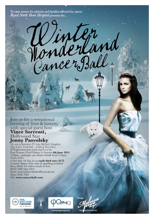 Cancer Services Ball Poster design 2011